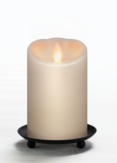 "Mirage Flameless Candle - Battery Operated  3"" x 5"" Cream"