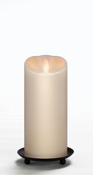 "Mirage Flameless Candle - Battery Operated 3"" x 7"" Cream"