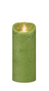 "Mirage Flameless Candle - Battery Operated 7"" x 3"" Fern"