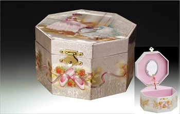 "Music Box  - ""Ballerina Musical Jewelry  Box"""