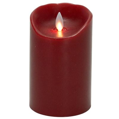 "Mystique Flameless Candle - Battery Operated 3.25"" x 5"" Red"