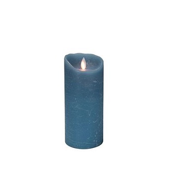 "Mystique Flameless Candle - Battery Operated 3.25"" x 7"" Blue"