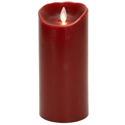 "Mystique Flameless Candle - Battery Operated 3.25"" x 7"" Red"