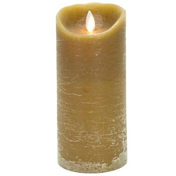"Mystique Flameless Candle - Battery Operated 3.25"" x 7"" Taupe"