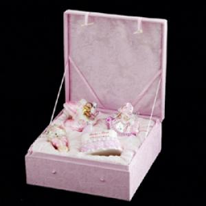 "Newborn Ornaments - ""Noble Gem Glass Baby Girl Ornament Gift Set"""