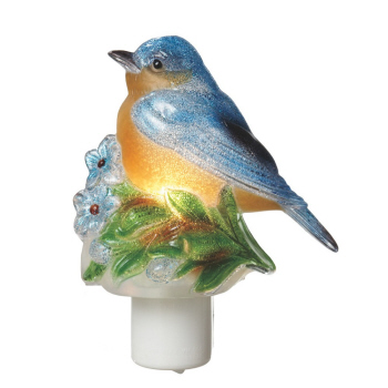 "Night Light - ""Beaded Blue Bird Night Light"""