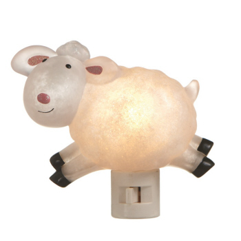 "Night Light - ""Beaded Lamb Night Light"""
