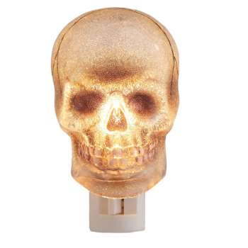 "Night Light - ""Beaded Skull Night Light"""