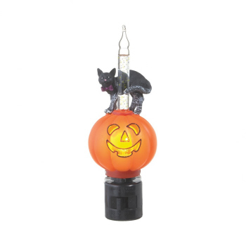 "Night Light - ""Black Cat And Jack O Lantern Night Light"""
