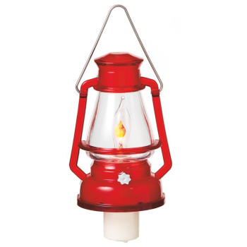 "Night Light - ""Red Camp Lantern Flicker Night Light"""