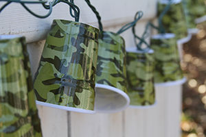 """Novelty String Lights - """"Camo Cup Party Lights"""" - Set of 10"""