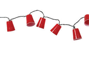 """Novelty String Lights - """"Red Cup Party Lights"""" - Set of 10"""