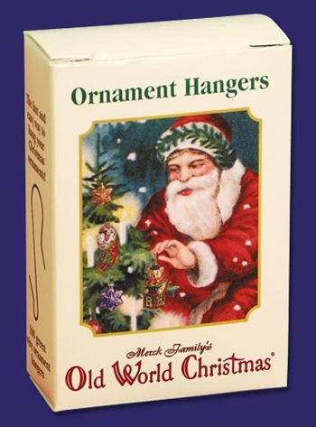 """Old World Christmas Acc - """"Green Ornament Hangers"""" - Box of 100"""