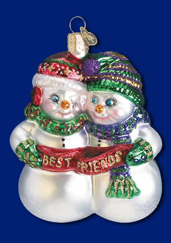 "Old World Christmas Glass Ornament - ""Best Friends"""