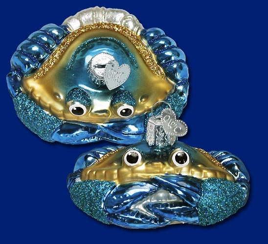 "Old World Christmas Glass Ornament - ""Blue Crab"""