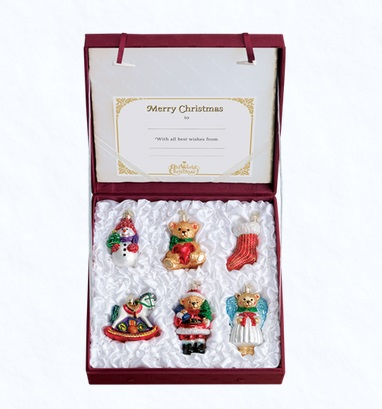 """Old World Christmas Glass Ornament - """"Child's First Christmas Collection"""""""