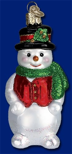 "Old World Christmas Glass Ornament - ""Chilly Billy"""