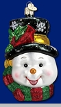 "Old World Christmas Glass Ornament - ""Colorful Snowman"""