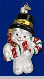 "Old World Christmas Glass Ornament  - ""Cutie Snowman"""