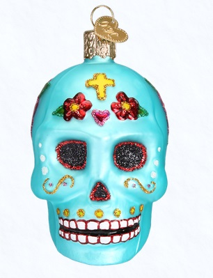 "Old World Christmas Glass Ornament - ""Day Of The Dead"""