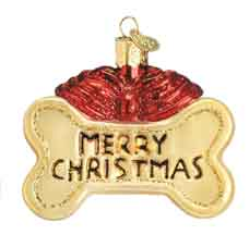 "Old World Christmas Glass Ornament  -  ""Dog Treat"""