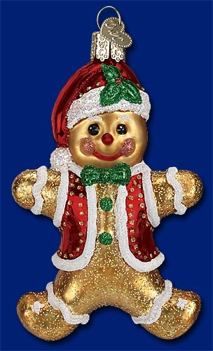 "Old World Christmas Glass Ornament - ""Gingerbread Boy"""
