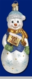 "Old World Christmas Glass Ornament  - ""Glistening Let It Snow"""