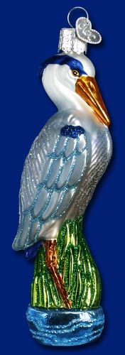 "Old World Christmas Glass Ornament - ""Great Blue Heron"""