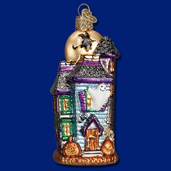 "Old World Christmas Glass Ornament - ""Haunted House"""
