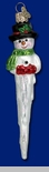 "Old World Christmas Glass Ornament  - ""Icicle Snowman"""