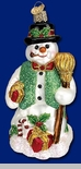 "Old World Christmas Glass Ornament  - ""Merry Mr. Snow"""