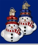 "Old World Christmas Glass Ornament  - ""Mini Snowman"""