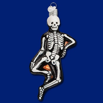 "Old World Christmas Glass Ornament - ""Mr. Bones"""