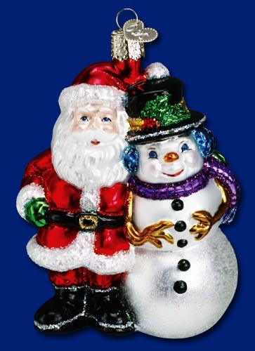 """Old World Christmas Glass Ornament - """"North Pole Pals"""""""