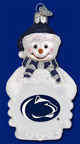 "Old World Christmas Glass Ornament - ""Penn State University Snowman Ornament"""