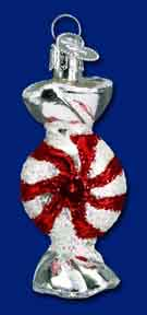 "Old World Christmas Glass Ornament  - ""Peppermint Candy"""