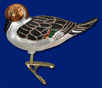"""Old World Christmas Glass Ornament - """"Pintail Duck"""""""
