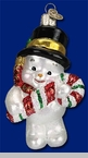 "Old World Christmas Glass Ornament - ""Snowmen"""