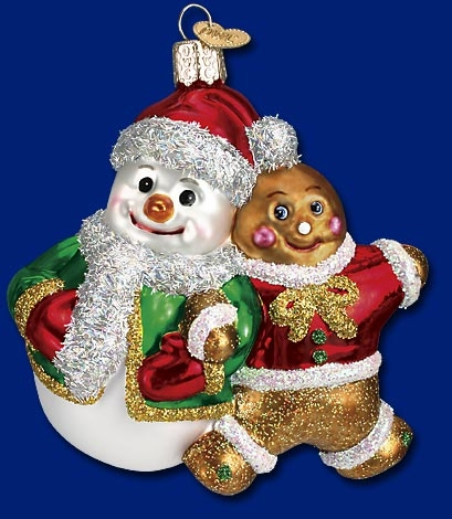 """Old World Christmas Glass Ornament - """"Snowy and Spice"""""""