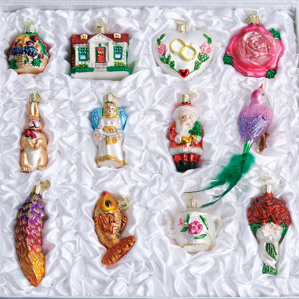 """Old World Christmas Glass Ornament - """"The Bride's Tree Collection"""" - FREE Shipping Item! Use code BRIDEFREESHIP at checkout!"""