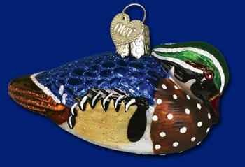 """Old World Christmas Glass Ornament - """"Wood Duck"""""""