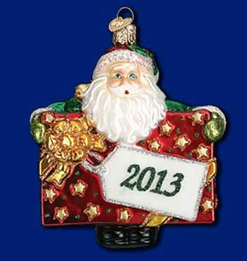 """Old World Christmas Glass Ornarment - """"2013 Special Delivery"""""""