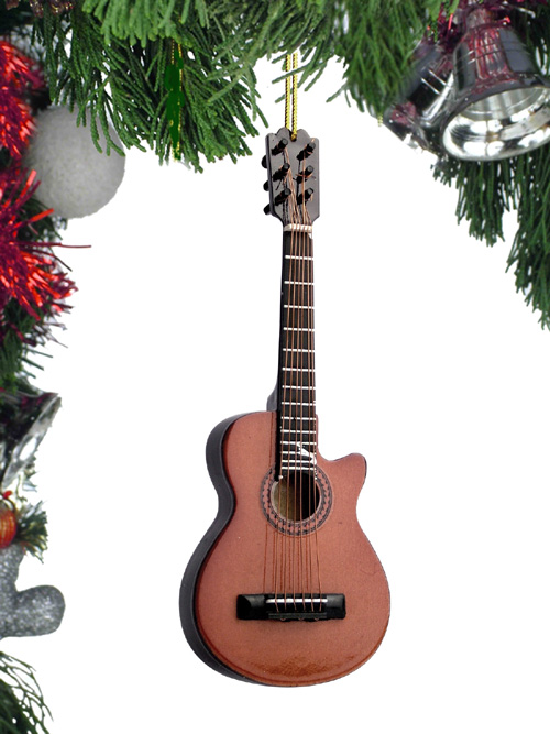 "Ornament - ""Brown String Guitar with Cut Away"""