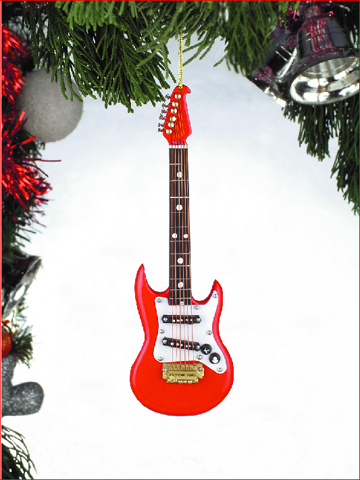 "Ornament - ""Red Electric Guitar Ornament"""