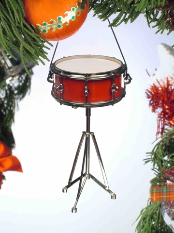 "Ornament  - ""Red Snare Drum  Ornament"""