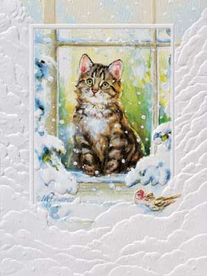 "Petite Boxed Christmas Cards - ""Merry Meow"""