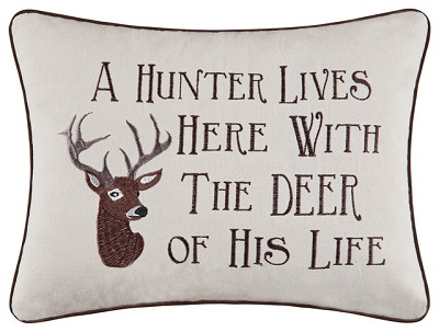 "Pillow - ""A Hunter Liver Here�."""