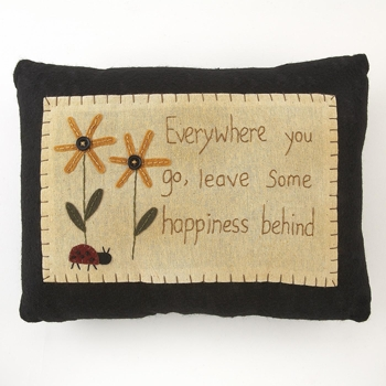 "Pillow  - ""Everywhere you go....Stitched Pillow"""