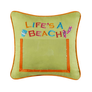 "Pillow - ""Life's A Beach Picture Pillow"""