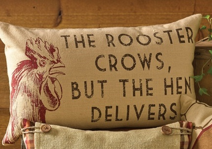 "Pillow - ""Rooster Crows"""